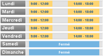 Horaire MLLE NEVEUX ELISE